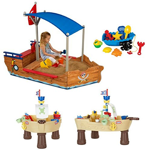 Kids Pirate Sandboat, Anchors Away Pirate Ship & Pirate Ship Beach Toys Set, Little Tikes, Sand Tables For Kids, Kids Water Table, Sand Toys, Kids Outdoor Play, Pirate Ship, Pirate Toys, Pirate Game