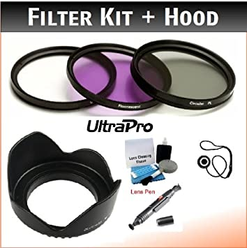 UltraPro 40.5mm Premium Filter Kit Close-Up Macro Filter Set +1 +2 +4 +10 and Lens Hood Bundle for Select Sony Digital Cameras Deluxe Accessory Set Included UV, CPL, FLD