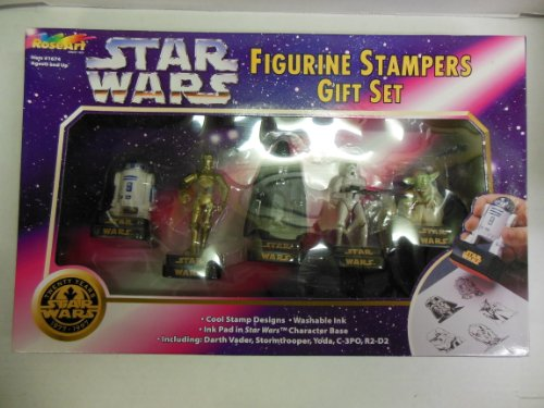 (Star Wars Figurine Stampers Gift Set From Roseart Includes Darth Vader, Stormtrooper, Yoda, C-3PO, R2-D2)