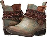 CORRAL Women's Green Harness and Studded Short Boot Round Toe Green 8 M