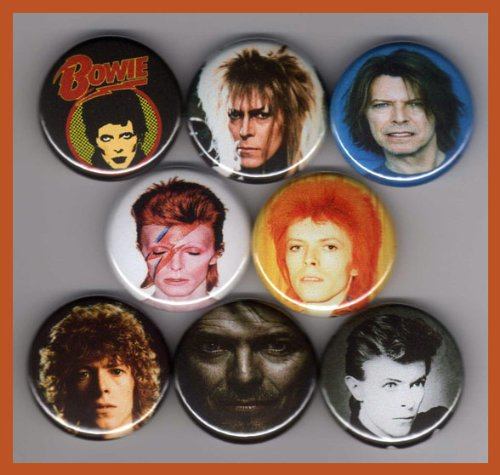 David Bowie Set of 8 - 1 Inch Magnets