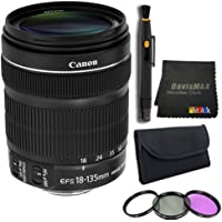 Canon EF 18-135mm f/3.5-5.6 IS STM Standard Zoom Lens Bundle 6 (International Model No Warranty)