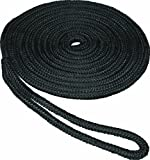 SeaSense Double Braid Nylon Dock Line, 1/2-Inch X 35-Foot, Black