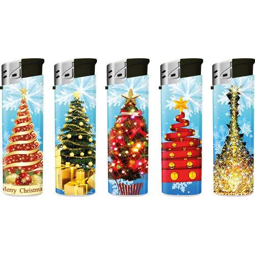 Lux 50 pcs Stü ck Gas Electronic Lighter Elektronische Feuerzeuge Weihnachten Tannenbaum