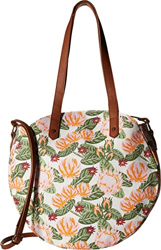 T-Shirt & Jeans Womens Floral Tambourine Tote, Multi,One - 7 Tambourine Inch