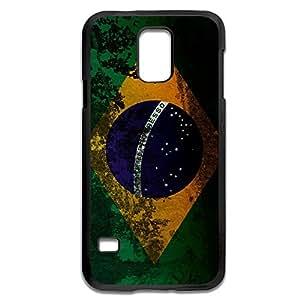 Samsung Galaxy S5 Cases Retro Brazilian Flag Design Hard Back Cover Shell Desgined By RRG2G