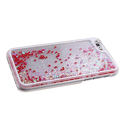 iPhone SE Hülle,iPhone 5S Hülle,iPhone 5 Hülle,Nsstar® Hard Plastic Handyhülle Transparent Clear Cystal Case Glitter Flowing Bling Sterns und Sparkles Shinny Attraktiv Hart Hülle Etui Schale für Apple