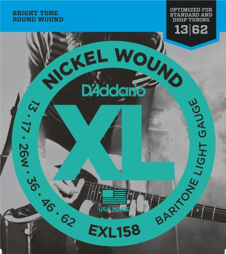 D'Addario EXL158 Nickel Wound Electric Guitar Strings, Barit