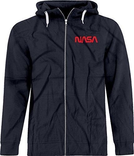 BSW Unisex NASA Space Astronomy Spider Worm Crest Zip Hoodie Med Navy (Retro Hoody Zip Womens)