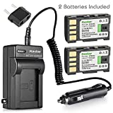 Kastar BN-VF808 Battery (2-Pack) and Charger Kit for JVC BN-VF808, BN-VF808U, BN-VF815, BN-VF815U, BN-VF823, BN-VF823U and JVC MiniDV, Everio GZ-MG130, 155, 255, GZ-MG555 and other specified camcorder