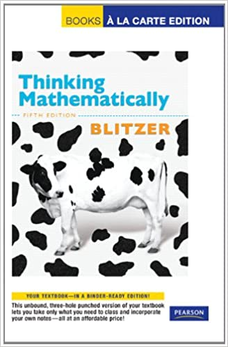 Amazon thinking mathematically books a la carte edition 5th thinking mathematically books a la carte edition 5th edition 5th edition fandeluxe Choice Image