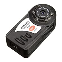Camcorder - SODIAL(R)Wireless WIFI Spy Security Camera Recorder IP P2P Mini DV Night Vision Camcorder