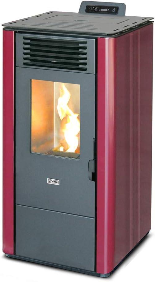 Divina Fire LOLITA90 - Estufa de pellets (9 kW, ventilada, 200 mc)