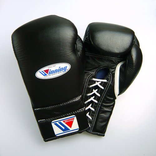 Winning Training Boxing Gloves 16oz (Black)