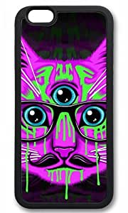 Hipster Cat Thanksgiving Halloween Masterpiece Limited Design TPU Black Case for iphone 6 pluse by Cases & Mousepads by Maris's Diary