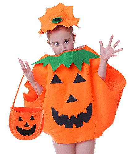 Fat Boy Halloween Costumes (Fat Pumpkin Costume for Kids of 4t 4 5 6 7 and 8)