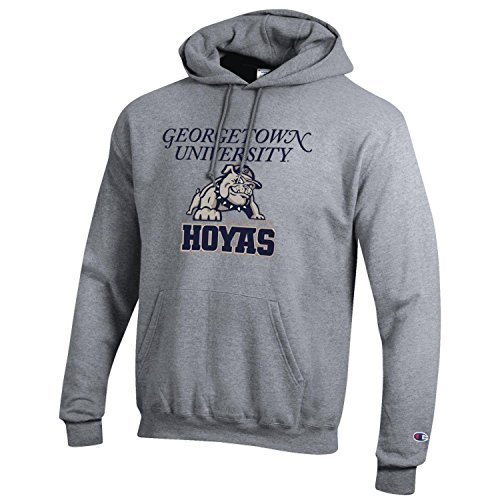 Sweatshirt Hooded Ncaa - Georgetown University Champion NCAA Hoyas Hooded Sweatshirt Hoodie (XL)
