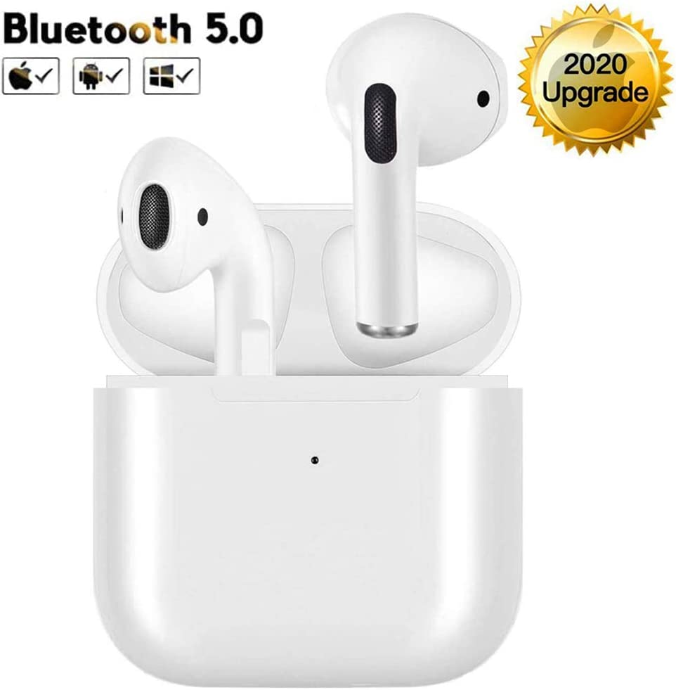 Wireless Earbuds Bluetooth 5.0 Headphones Built in Mic Noise Cancelling 3D Stereo Headsets in Ear Earbuds IPX7 Waterproof Earbuds with Charging Case for Apple Airpods Earbuds/iPhone/Android