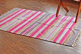4 feet roman shades - Hotweave Hand-Woven/Hand-Made 4'x6' / 120x180 cm Multicolor Chenille Striped Area Rug, Style: 3385