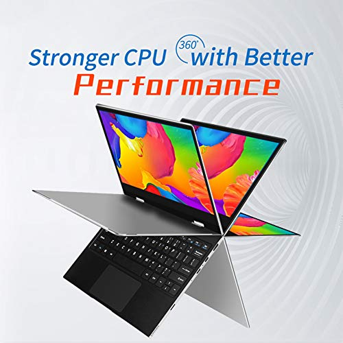Ccylez Jumper Tech Laptop,11.6 in Laptop,2 in 1 FHD 1920×1080 IPS Tablet Laptop for Intel Apollo N3450,6GB +128GB,Dual-Band Wi-Fi Tablet,Support 10-Point Capacitive Touch