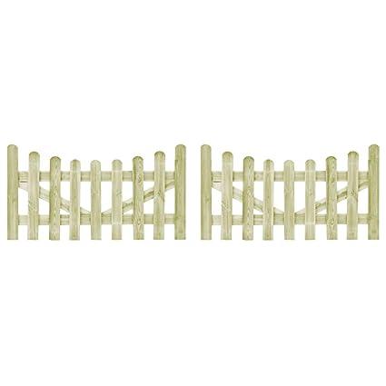 plus grand choix prix incroyables détails pour yorten Portillons de Jardin 2 pcs Cloture de Jardin en Bois ...