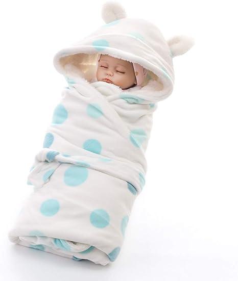 FYABB Bebé recién Nacido con Capucha Swaddle, niños Infantiles Gruesos de Cachemira Suave edredón Saco de Dormir Bolsa Abrigo Manta Cochecito para 0-24Months (75 * 75cm),lakegreendots: Amazon.es: Deportes y aire libre