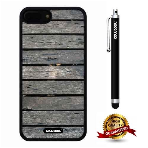 iphone 8 Plus Case, iphone 7 Plus Case, Wood Texture Case, Cowcool Ultra Thin Soft Silicone Case for Apple iphone 7 8 Plus - Transverse Flooring Wood Texture