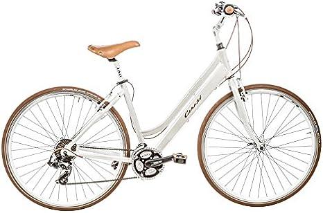 Casadei Bicicleta Clasica - Hibrido Donna 28 21v 15D, Blanco ...