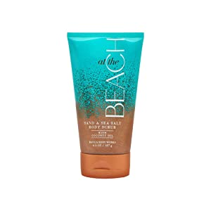 Bath & Body Works 6.6 Ounce Sand & Sea Salt Scrub with coconut oil At the Beach Scent (Packaging may vary)