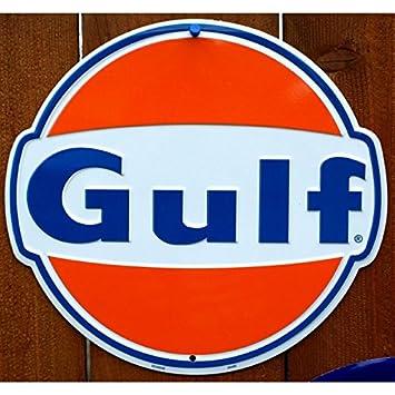 Inconnu Hotrodspirit Plaque Gulf Style Annee 60 30cm Tole Deco Garage Loft Us