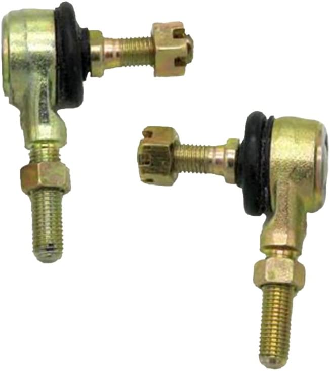 H HILABEE 2 Pack of 10mm Left and Right Hand Tie Rod Ball Joint for ATV Dirt Bike Go Kart Moped Scooter 110 125cc