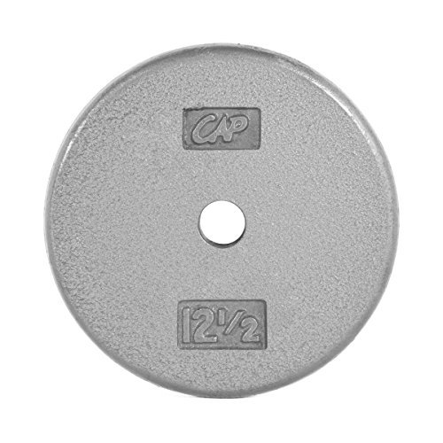 CAP Barbell Standard Free Weight Plate, 1-Inch, 12.5-Pound, Gray