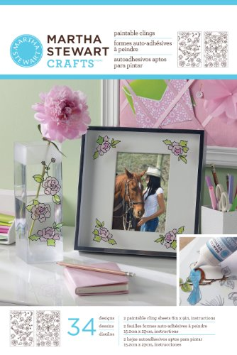 Martha Stewart Crafts Outline Glass Cling, 33264 Rose ()