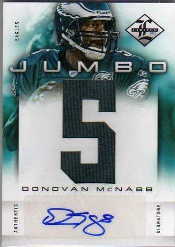 2012 Limited Jumbo Jerseys Autographs Jersey Number #17 Donovan McNabb Autograph Jersey Card Serial #