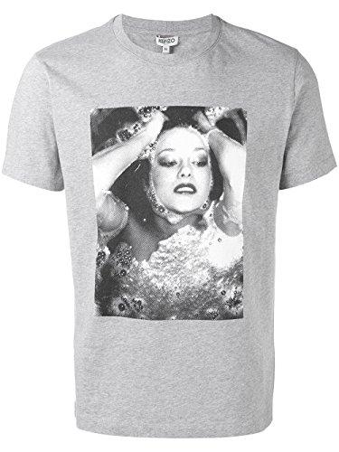 Kenzo Herren F755TS0184OB94 Grau Baumwolle T-Shirt