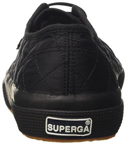 Superga 2750-quiltnylu, Basses Mixte Adulte Nero (Full Black)