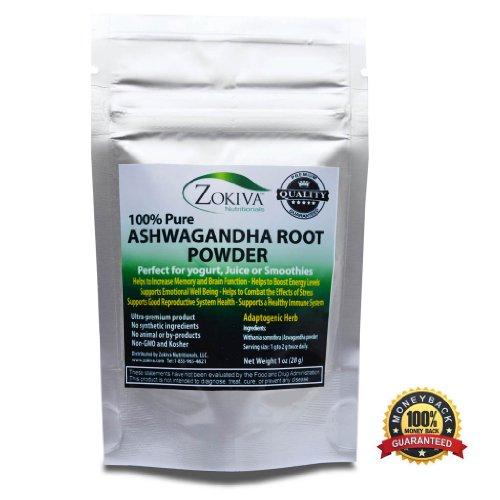 Ashwagandha Root порошок 1 унции (Ашвагандха) Premium Quality 100% Pure