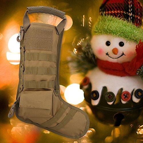 Queen.Y Chaussette de Sac de Bas de Noël, Cadeau de Bonbons de père noël décorations d'arbre de Noël Bas Suspendus pour… 2