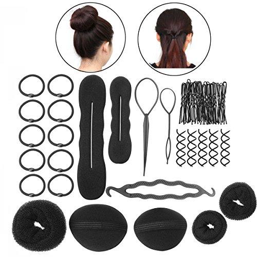 PIXNOR DIY-Haar-Styling Zubehör Tools Kit Satz für Frauen