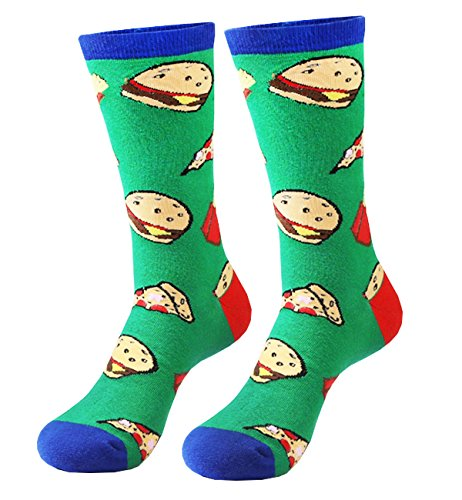 Zmart Men's Novelty Funny Crazy Food Crew Socks