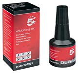 5 Star Office Endorsing Ink 28ml Black