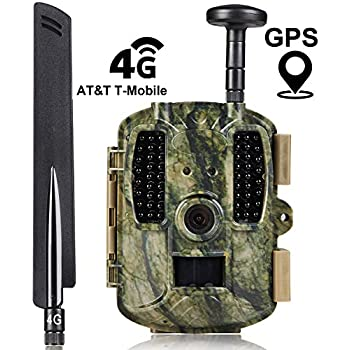 Kuool Trail Camera 4G LTE Cellular (AT&T/T-Mobile) & GPS Hunting Camera Trail cam,D40 Game Camera,Wildlife Camera 12MP 1080P Full HD Hunting Camera, ...