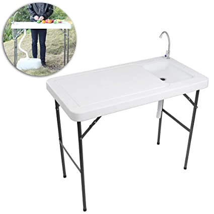 Tricam Outdoor Fish And Game Cleaning Table With Quick