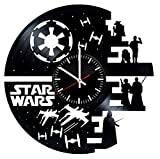 Star Wars Characters Vinyl Records Wall Clock - Original Present For Epic Movie's Fans - Wall Art Room Decor Handmade Decoration Party Supplies Theme - Vintage And Modern Style