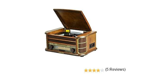 New Majestic TT-34 Marrón sistema de audio para el hogar - Microcadena (Marrón, AM,FM, Analógica, LCD, MP3,WMA, CD de audio)