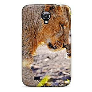 Tpu Fashionable Design Lion Cub Rubbing Noses Rugged Case Cover For Galaxy S4 New