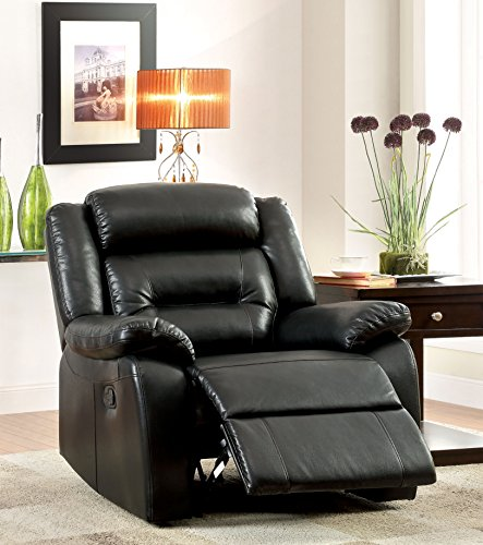- Furniture of America Jared Leatherette Recliner Chair
