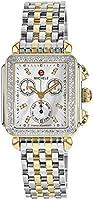 MICHELE Women's MWW06P000108 Deco Analog Display Swiss Quartz Two Tone Watch
