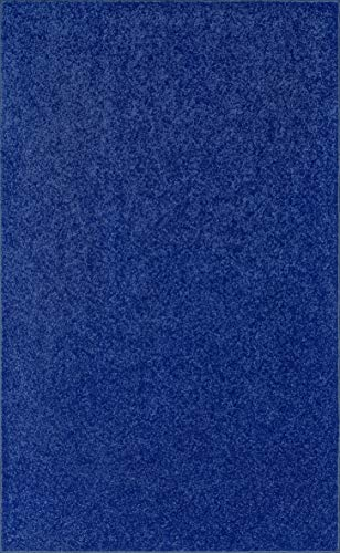 Ambiant Kids Solid Color Neon Blue 3 x5 – Area Rug