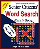 Senior Citizens' word search puzzle book (Volume 1)